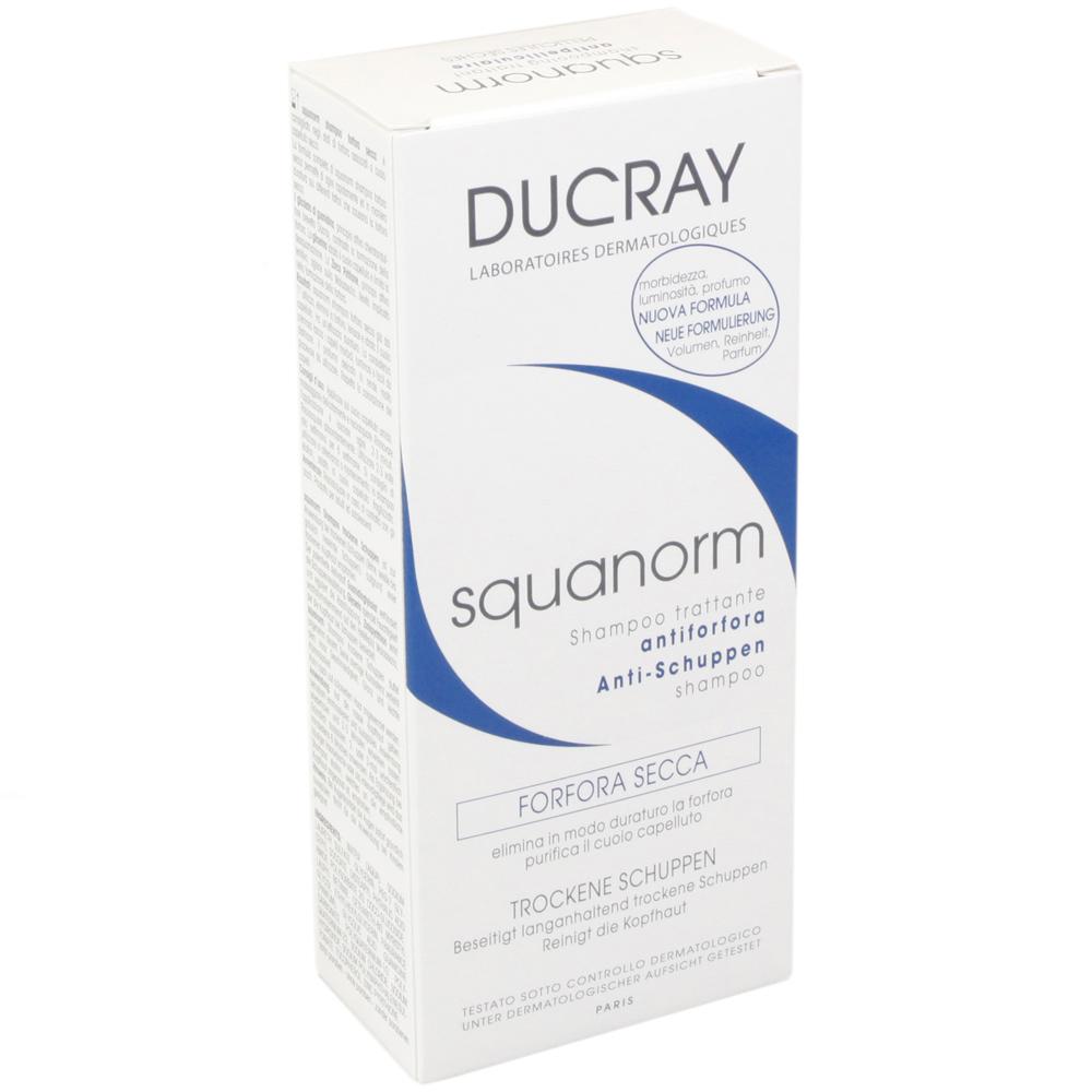 ducray squanorm shampoo gegen fette schuppen schuppen juckende kopfhaut haarpflege. Black Bedroom Furniture Sets. Home Design Ideas