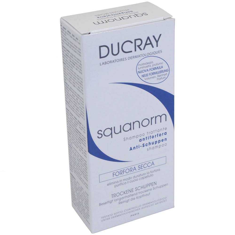 ducray squanorm shampoo gegen trockene schuppen schuppen. Black Bedroom Furniture Sets. Home Design Ideas