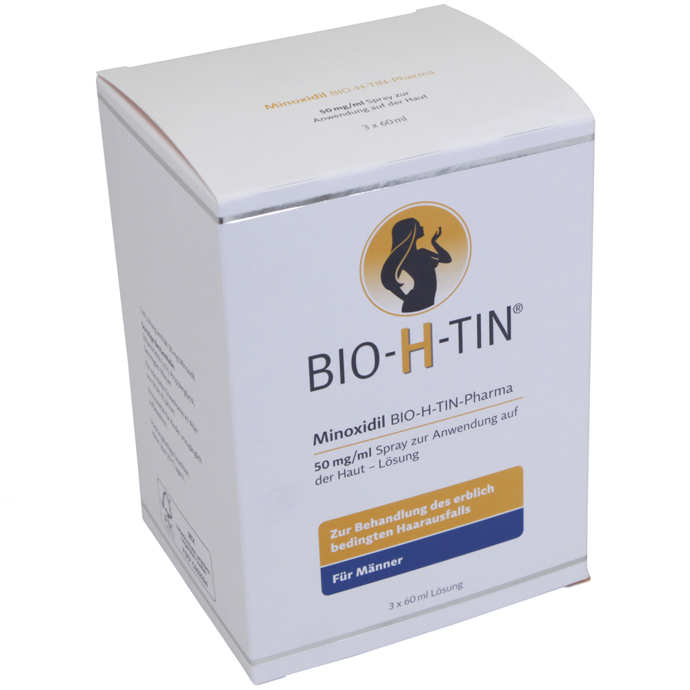 bio h tin minoxidil 50 mg ml spray 3x60 haarausfall. Black Bedroom Furniture Sets. Home Design Ideas